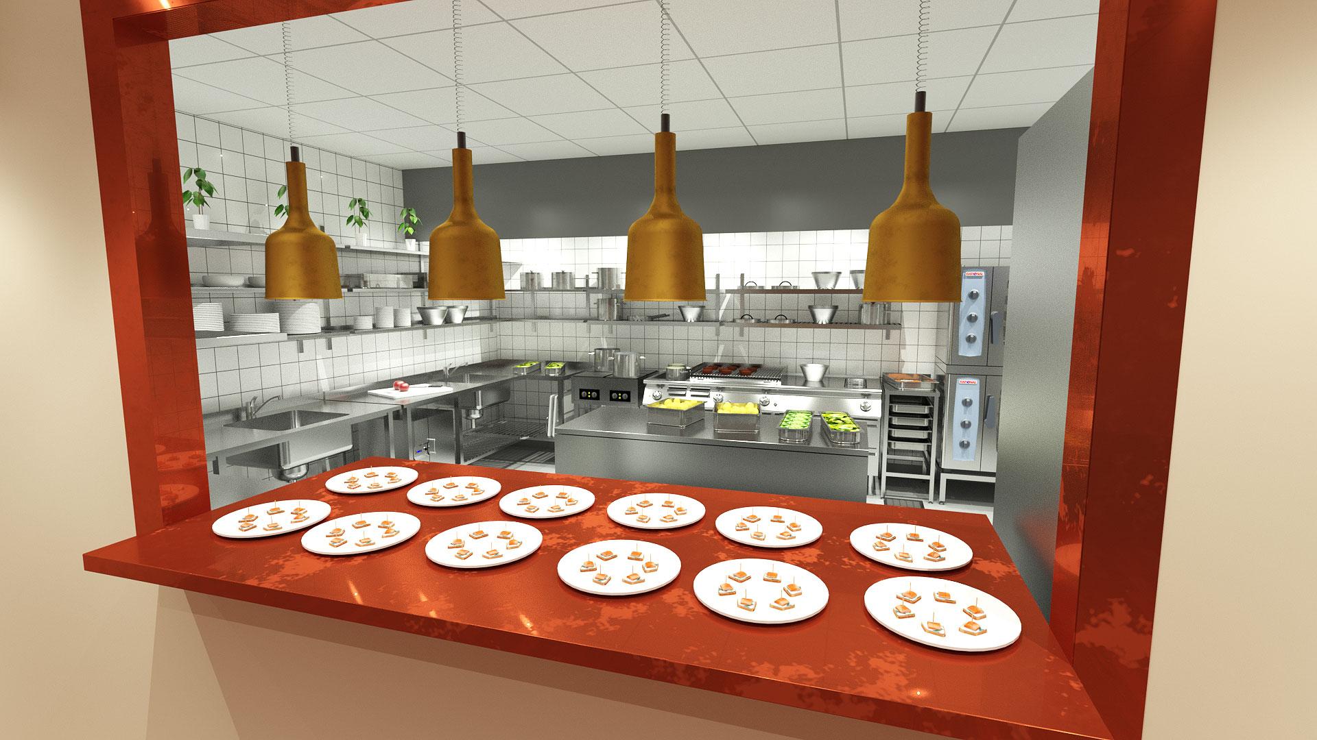 Köksprojekt 3d studio Kosta Brasserie